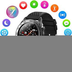 Herren Smartwatch Armband Herzfrequenz Pulsuhr Blutdruck GPS Fitness Tracker DE