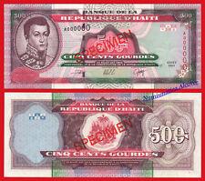 HAITI 500 Gourdes 2000 SPECIMEN Pick 270s SC- / aUNC