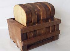 Folk Art Wood Bread Slices 6 Home Kitchen Decor Handmade