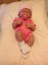 "PREEMIE FIRST TEARS BABY GIRL 14"" REBORN VINYL LIFELIKE DOLL W BOTTLE PACI EXTRA"