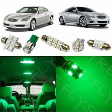 9x Green LED lights interior package kit for 2008-2014 Infiniti G37 Coupe IG3G