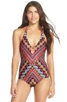 * NWT Becca 'Caravan' Print One-Piece Swimsuit , M