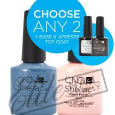 CND SHELLAC - 7.3ml - Any 2 Colours + Base + XPRESS5 Top + FREE Remover Wraps