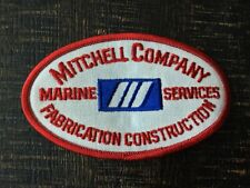 Vtg Mitchell Company Marine Services Fabrication Construction Patch Collectible
