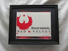BADERBRAU RED VELVET  BEER SIGN  #985