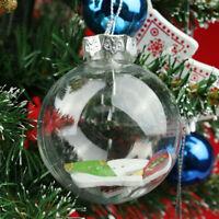 20pcs 6cm Christmas Baubles Balls Glass Style Shatterproof Xmas Tree Decoration