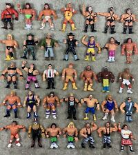 WWF Hasbro Lot Of 35! All Actions Work!! Hogan Crush Warrior Macho Man Bret