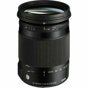 Sigma 18-300mm F3.5-6.3 DC Macro OS HSM 'C' Lens - NIKON Fit (UK) Ex. Display