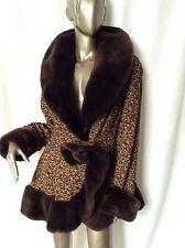 Vintage Beyond Fabulous Beaver Fur Detailed Fancy Coat Jacket M