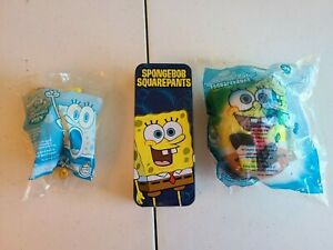 3 NEW Burger King Nickelodeon The SpongeBob SquarePants Movie Toys & Watch