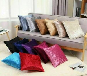 """Crushed Velvet Cushion Pads FILLED Piped Edges 45 x 45cm / 18x18"""""""