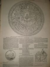 Homeric Table for Lord Northwick by John Henning 1850 print ref AX