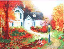 Herbst Stickpackung mit Perlen Stickset Stickvorlage Stickbild Geschenkidee 48