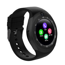 Round Touch Screen Bluetooth Smart Watch For Android HTC LG iPhone Unlocked GSM
