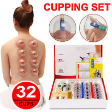 32 Cups Vacuum Cupping Set Massage Acupuncture Kit Suction Massager Pain Relief