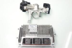 15 16 Honda Fit LX Engine Computer + Ignition Switch ECU ecm pcm 37820-5R7-C66