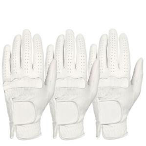 ++ New ++ (3)  All Weather Men's White Golf Glove