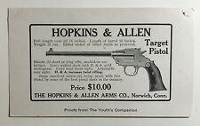 Vintage Advertising Flyer For Target Pistol, Hopkins & Allen Arms, Norwich Conn.
