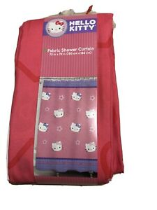 """New Hello Kitty by Sanrio  Fabric Shower Curtain 72 x 72"""" - Pink Purple"""