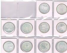 COLLECTIE 10 VERSCHILLENDE € 10 MUNTEN DUITSLAND 2006-2008 SILBER UNC