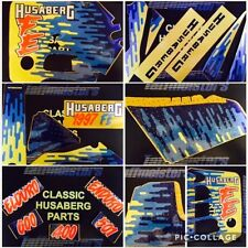 Husaberg 1997 FE Complete Decal Set Genuine Factory suits Enduro Kickstart 90s