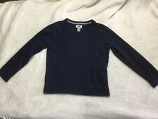 old navy boys uniform long sleeve V neck ink blue Size 8