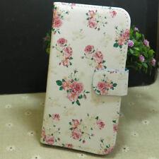 1x Pretty Rose Flower Wallet Holder flip case cover for Various Mobile phone