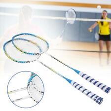 1 Pair Badminton Racket Set Carbon Fiber Lightweight Training Racquets With Bag