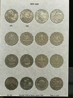 AUSTRALIA 20 cent and 50cent Coin Collection in Dansco  Album fine to Choice UNC