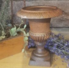 Cast Iron Metal small Urn Home Garden Table Fall Wedding Candle Floral Decor
