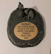 cat Large Pet Memorial/headstone/stone/grave marker/memorial with plaque new 2