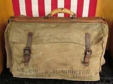 Vintage WWII US Army Officers Garment Bag Military Suitcase Stencil Luggage USAF
