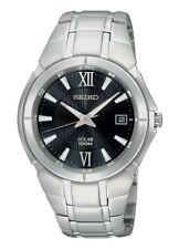 Seiko Quarz - (solarbetriebene) Armbanduhren mit 12-Stunden-Zifferblatt