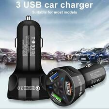 2.1A Triple USB Car Charging adapter Port LED Cigarette Lighter Fast charger