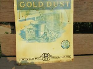 GOLD DUST TWINS TIN SIGN
