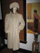 Off White Blush Mink & Fox Fur Coat - Medium