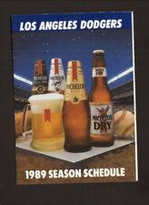 Los Angeles Dodgers--1989 Pocket Schedule--Michelob