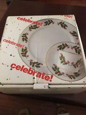 The Market Place Vintage NIB 12 Piece Porcelain Christmas Dinnerware Set