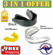 Gum Shield Mouthguard Boil Bite Teeth Protector Boxing MMA Hockey Rugby Karate
