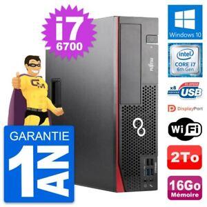 PC Fujitsu Esprimo D556 DT Intel i7-6700 RAM 16Go Disque Dur 2To Windows 10 Wifi