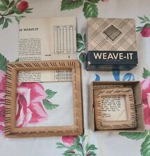 Vintage Weave It Wood Loom Lot with Instructions Donar