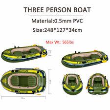 CHEETAH PVCsport inflatable boat 3-4 Person Fishing Raft Boat Pump Rowing