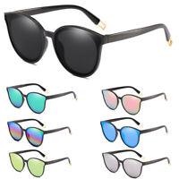 Luxury Oversized Sunglasses Cat Eye Flat UV400 Eyewear Mirror Women 2019