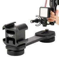 Ulanzi PT-3 Triple Hot Shoe Mount Adapter Extension Bar for Zhiyun Smooth BL EB
