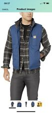 Carhartt Gilliam Vest Insulated quilted Men's Sz Large BlueNylon cordura