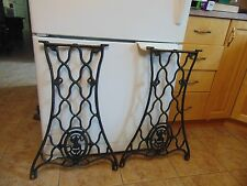 antique sewing machine base /stand/legs   nice  # 4752