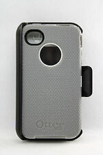 OtterBox Defender iPhone 4 iPhone 4S Hard Case w Holster Clip Gray White