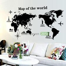 Home Decor Wall Decal Map of the World Removable PVC Decal Wall Sticker Art Hot