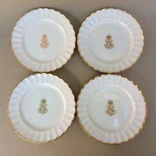 Antique 19thC Sevres Napoleon III Four Porcelain Plates