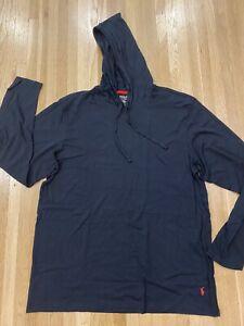 Polo Ralph Lauren Mens Supreme Comfort Sleep Hoodie NWT Black Large